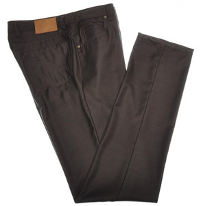 Luciano Barbera Luxury 5 Pocket Jeans Wool 34 50 Brown 48JN0130