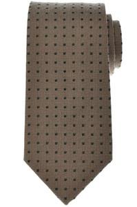 Luigi Borrelli Napoli Tie Silk 58 x 3 3/8 Brown Green Polka Dot 05TI0358