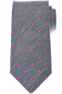 Luigi Borrelli Napoli Tie Silk 60 x 3 3/8 Blue Red Paisley 05TI0354