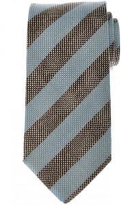 Luigi Borrelli Napoli Tie Cashmere 59 1/4 x 3 3/8 Blue Stripe 05TI0351