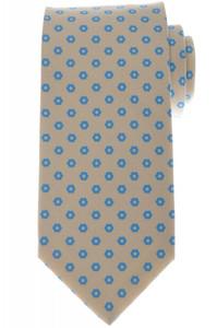 Luigi Borrelli Napoli Tie Silk 57 1/2 x 3 3/8 Brown Blue Geometric 05TI0363