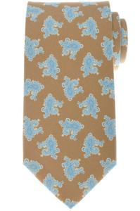 Luigi Borrelli Napoli Tie Silk 58 x 3 1/4 Brown Blue Paisley 05TI0395