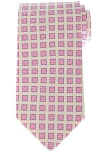Luigi Borrelli Napoli Tie Silk 59 x 3 1/4 Pink Purple Geometric 05TI0416