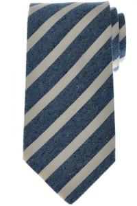 Luigi Borrelli Napoli Tie Silk 57 3/4 x 3 3/8 Blue White Stripe 05TI0419