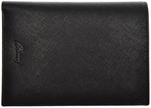 Brioni Large Wallet 8 Cards Saffiano Leather 5 3/4 x 4 1/8 Black 03WA0130
