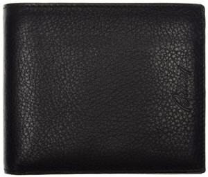 Brioni Wallet 6 Cards Pebble Grain Leather Black