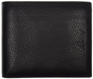 Brioni Wallet 6 Cards Pebble Grain Leather 4 3/8 x 3 3/4 Black 03WA0118