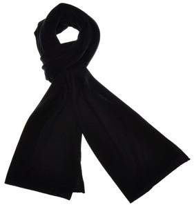 """Cruciani Scarf Soft Luxury Cashmere 70"""" x 16"""" Black Solid 42SF0130"""