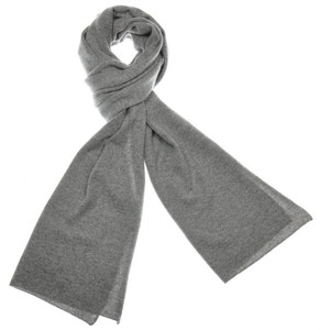 "Cruciani Scarf Soft Luxury Cashmere 70"" x 15"" Gray Solid 42SF0144"