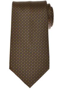 Stefano Ricci Tie Silk 59 3/4 x 3 5/8 Blue Gold-Yellow Geometric 13TI0426
