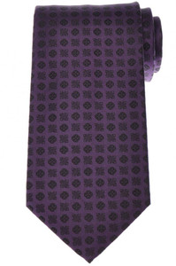 Stefano Ricci Tie Silk 60 x 3 5/8 Purple Black Geometric 13TI0439