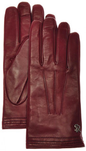 Stefano Ricci Gloves Handmade Leather Cashmere Lined Size 9 Red 13GL0106