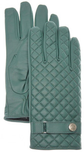 Stefano Ricci Gloves Quilted Leather Cashmere Lined Size 9 Green 13GL0119