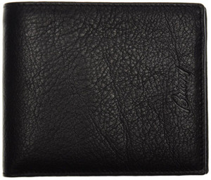 Brioni Wallet 6 Cards Pebble Grain Leather 4 3/8 x 3 3/4 Black 03WA0127