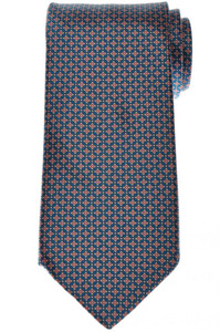 Stefano Ricci Tie Silk 60 x 3 5/8 Teal Blue Brown Geometric 13TI0504