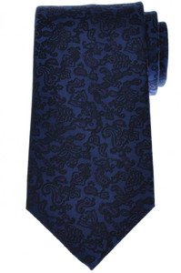 Stefano Ricci Tie Silk 60 1/2 x 3 3/4 Blue Purple Paisley 13TI0436