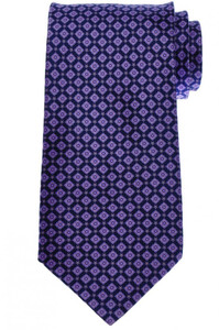 Stefano Ricci Tie Silk 60 x 3 3/4 Purple Blue Geometric 13TI0529