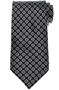 Stefano Ricci Tie Silk 60 1/4 x 3 3/4 Black Gray Geometric 13TI0548