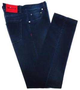 Kiton Luxury 5 Pocket Moleskin Jeans Cotton Stretch 30 46 Blue 01JN0245
