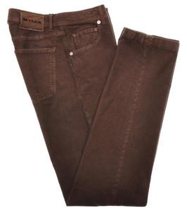 Kiton Luxury 5 Pocket Corduroy Jeans Cotton Stretch 30 46 Brown 01JN0261