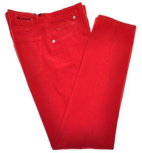 Kiton Luxury 5 Pocket Corduroy Jeans Cotton Stretch 36 52 Red 01JN0294