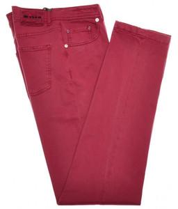 Kiton Luxury 5 Pocket Twill Jeans Cotton Blend Stretch 30 46 Red 01JN0315