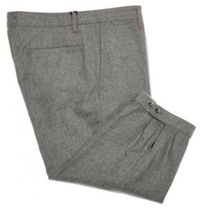 Kiton Napoli Luxury Golf Pants Knickers Wool Flannel 34 50 Gray 01PT0108