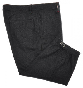 Kiton Napoli Luxury Golf Pants Knickers Wool Flannel 32 48 Gray 01PT0104