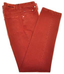 Kiton Napoli Luxury Jeans Cotton Wool Stretch 33 49 Orange 01JN0325