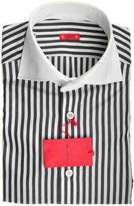 "Kiton ""Cipa"" Luxury Dress Shirt Cotton 15 1/2 39 White Stripe 01SH0416"
