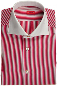 "Kiton ""Cipa"" Luxury Dress Shirt Fine Cotton 15 3/4 40 Burgundy 01SH0472"