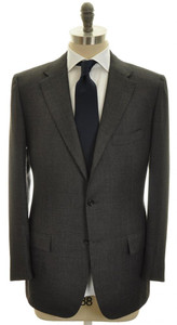 Kiton Suit 3B Cashmere 44 54 Brown Black Birdseye