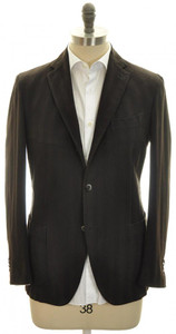 Boglioli 'Coat' Sport Coat Blazer Jacket 3B Cotton 40 50 Brown 24SC0113
