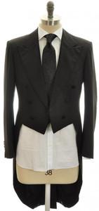Kiton Suit Tuxedo Tailcoat Diamante Blu 150s Wool 42 52 Black