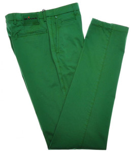 Kiton Luxury Pants Cotton Stretch 33 49 Washed Green 01PT0118