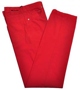 Kiton Luxury Jeans Cotton Poplin 35 51 Washed Red 01JN0346