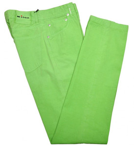 Kiton Luxury Jeans Cotton Poplin 31 47 Washed Green 01JN0350