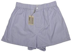 Brioni Luxury Boxer Shorts Underwear Cotton Large Purple White 03UN0106