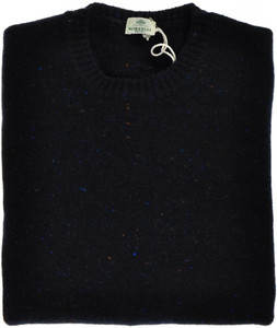 Luigi Borrelli Sweater Crewneck Wool Cashmere 56 XXLarge Blue 05SW0112