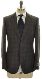 Belvest Suit 2B Wool 120's 40 50 Gray Plaid 50SU0118