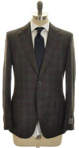 Belvest Suit 2B Wool 120's 40 50 Gray Plaid