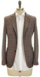 Belvest Sport Coat Jacket 2B Wool Blend 36 46 Brown Plaid 50SC0134