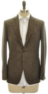 Belvest Sport Coat Jacket 3B Wool Blend 38 48 Gray Brown