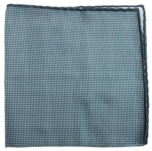 Brunello Cucinelli Pocket Square Double Faced Cotton Green White 02PS0138
