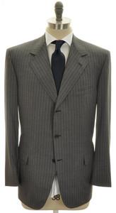 Brioni Suit 'Nomentano' Luxury Fine 150's Wool 44 54 Gray Stripe 03SU0178