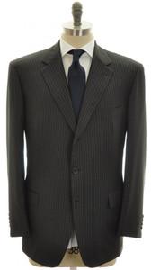 Brioni Suit Parlamento Luxury 150s Wool 46 56 Gray Stripe
