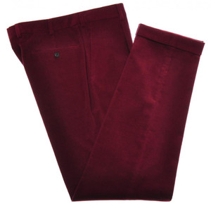Belvest Pants 1 Pleat Front Cotton Stretch Corduroy 34 50 Red 50PT0123