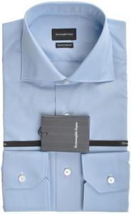 Ermenegildo Zegna Shirt Trofeo Comfort Cotton 40 15 3/4 Blue 18SH0110