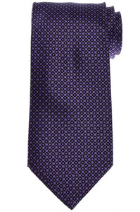 Stefano Ricci Tie Silk 59 1/4 x 3 1/2 Black Purple Geometric 13TI0588