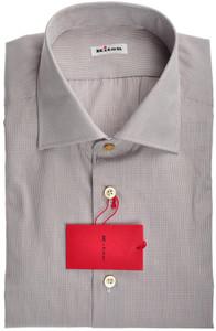 Kiton Luxury Dress Shirt Fine Cotton 15 3/4 40 Blue Orange Check 01SH0498